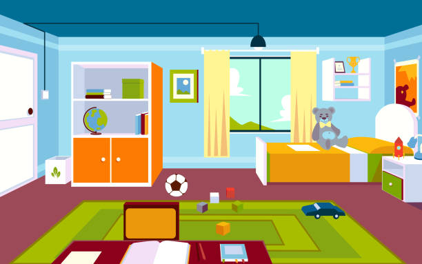 Teenage Bedroom Wall Illustrations, Royalty-Free Vector ...