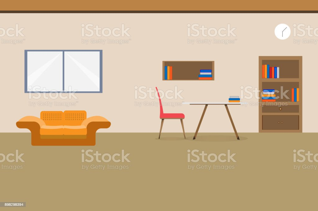 https://media.istockphoto.com/vectors/interior-office-design-relax-with-sofa-table-chair-bookcase-and-vector-id898298394