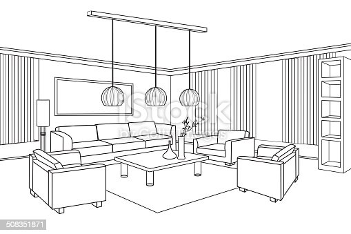 Stunning 25 blueprint interior design inspiration design of blueprint interior design interior outline sketch furniture blueprint flat design plan stock malvernweather Gallery