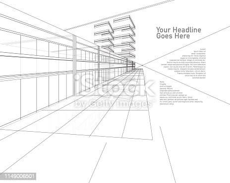 Interior outlined - Vector