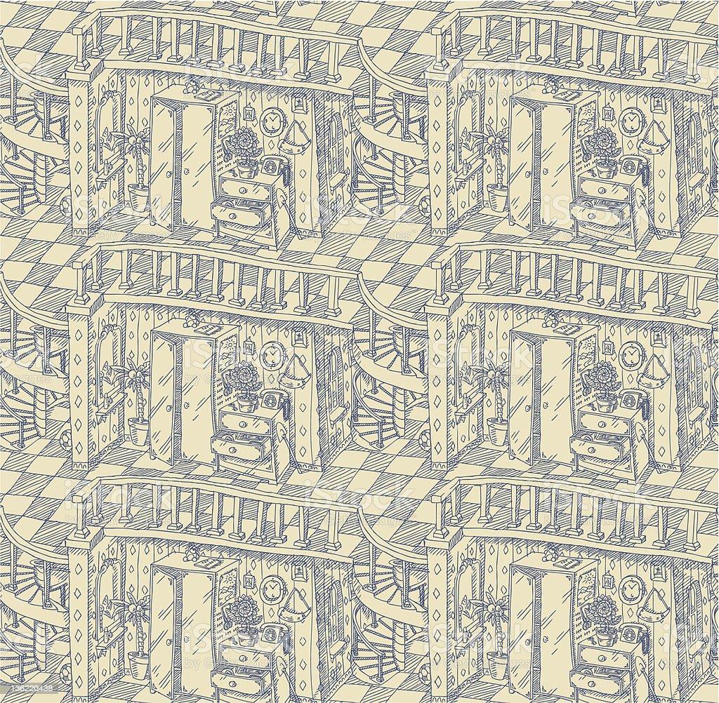 interior pattern royalty-free stock vector art