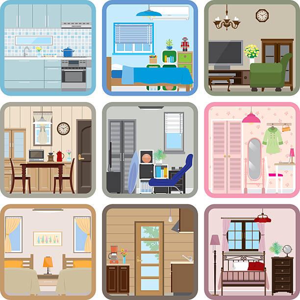 Interior / Room vector art illustration