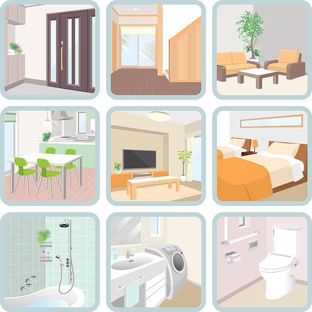 のインテリア - 玄関点のイラスト素材/クリップアート素材/マンガ素材/アイコン素材