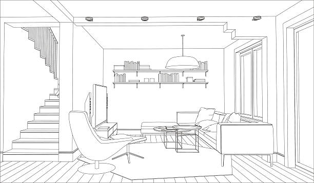 Interior Vector Art Illustration
