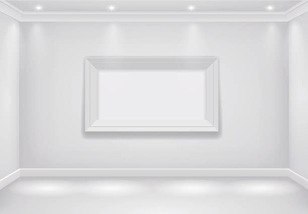 interior white room - gesims stock-grafiken, -clipart, -cartoons und -symbole