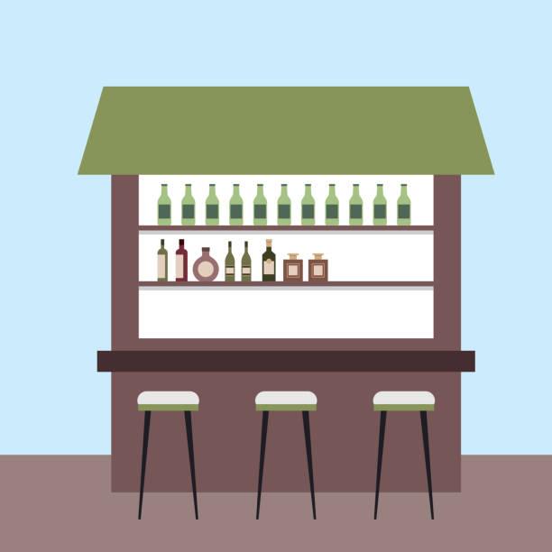 restaurante de cafetería interiores espacio de trabajo - ilustración de arte vectorial