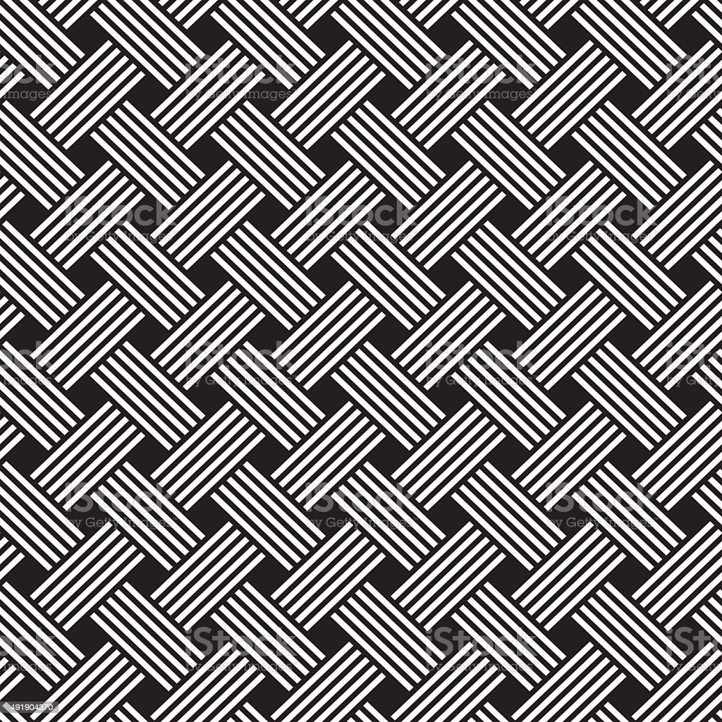 interlacing pattern vector art illustration
