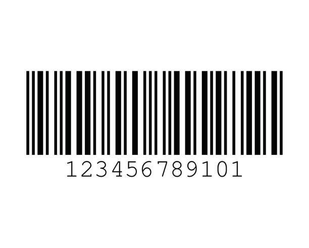 Interleaved 2 of 5 Barcode Standards vector art illustration