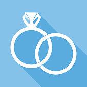 Interlocking Wedding Rings Icon