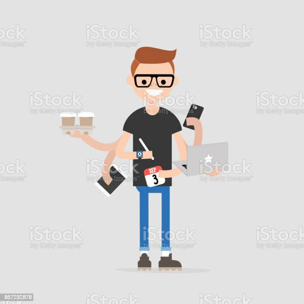 Intern conceptual illustration multitasking millennial concept young vector id857232878?b=1&k=6&m=857232878&s=612x612&h=6cae3mbl9ooizqrzom2khibqbscpjgvsltrxheapeeu=