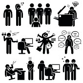 Intern Internship New Employee Staff at Office Workplace Pictogram