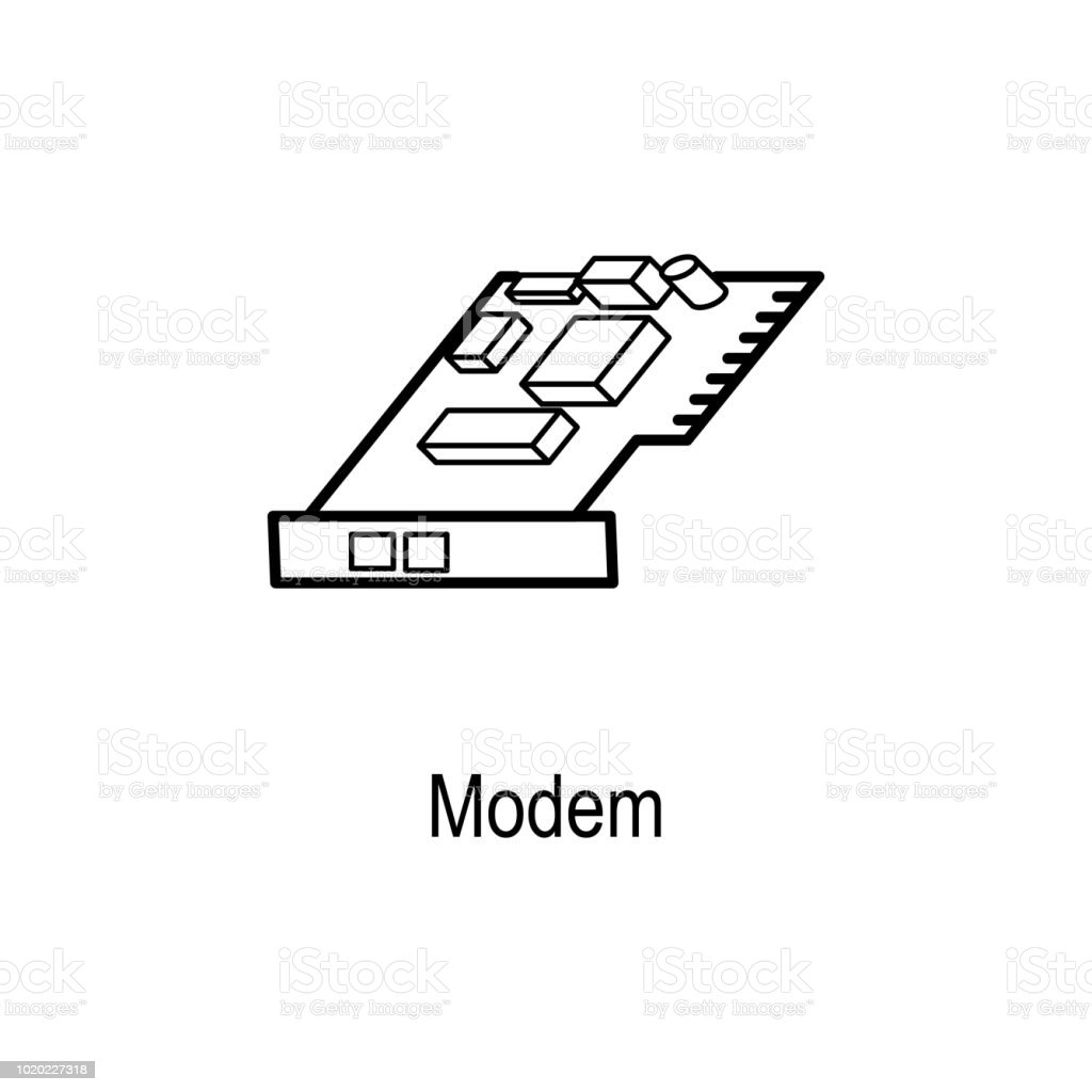 icon modem diagram