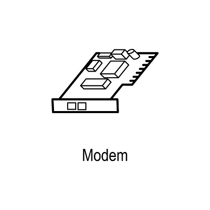 internal modem icon element of computer part for mobile concept and web  apps thin line icon for website design and development app development  premium icon