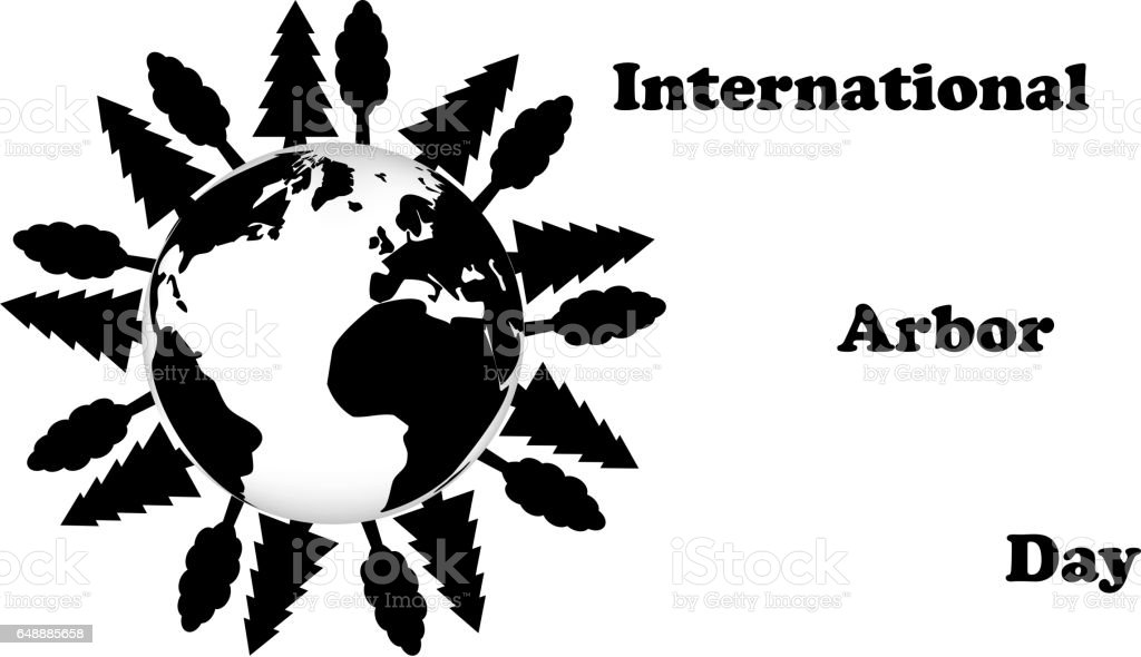International Arbor Day vector art illustration
