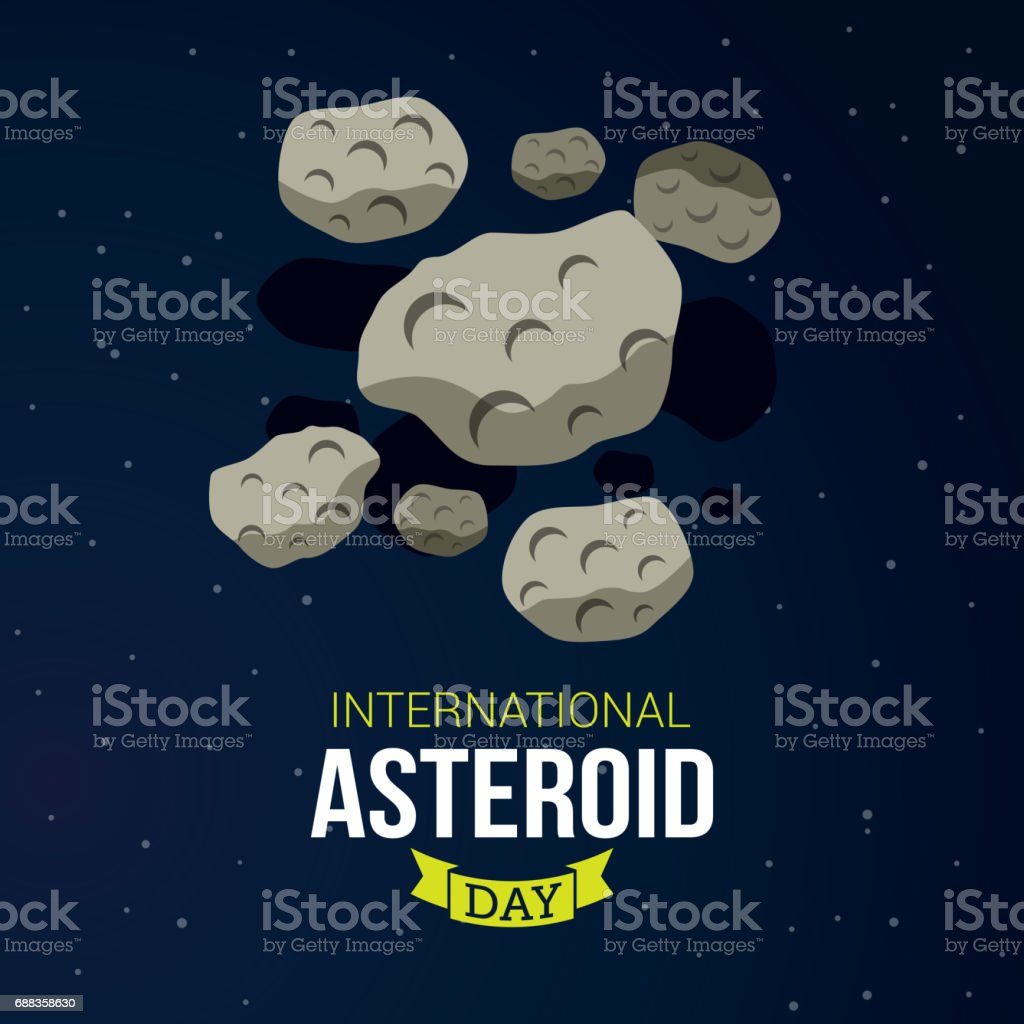 International Asteroid Day vector art illustration