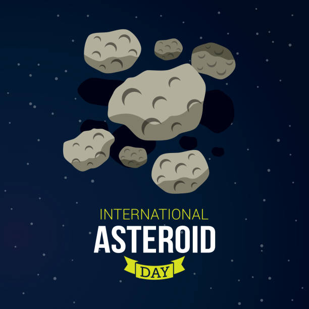 International Asteroid Day vector art illustration