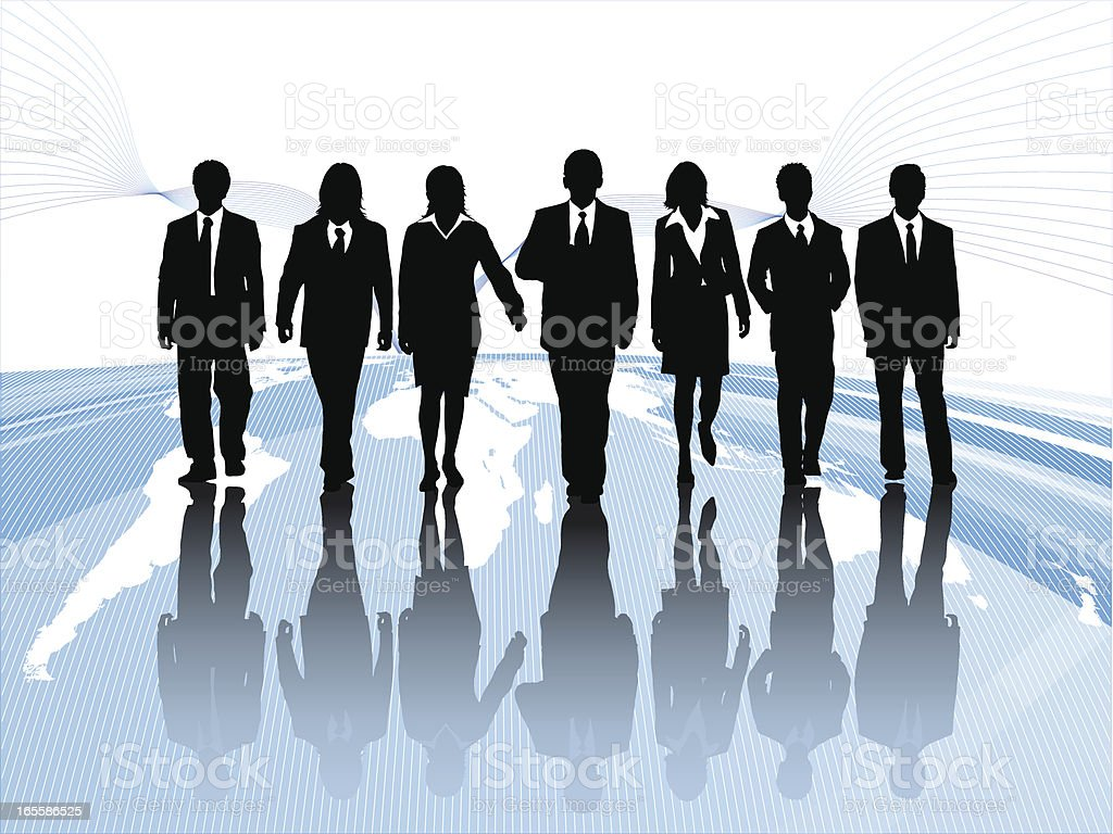 International Business Team royalty-free stock vector art