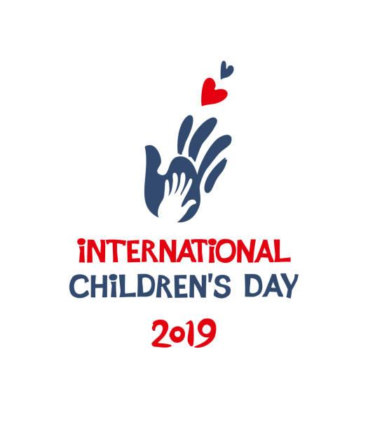 stockillustraties, clipart, cartoons en iconen met internationale dag van het kind. 2019. silhouet platte ontwerp van sociaal logo. - festival logo baby