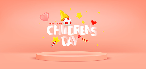 International Childrens day greeting card