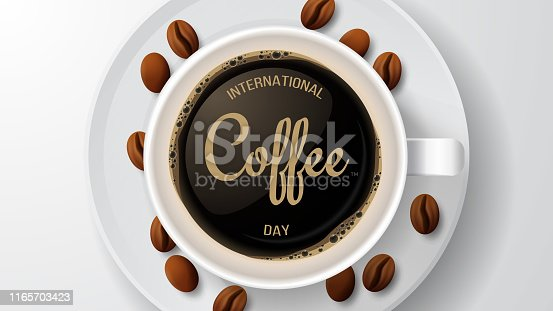 International coffee day. Vector illustration