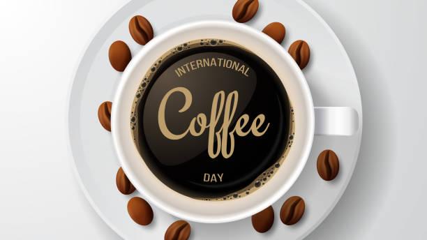 국제 커피의 날. 벡터 일러스트레이션 - coffee stock illustrations