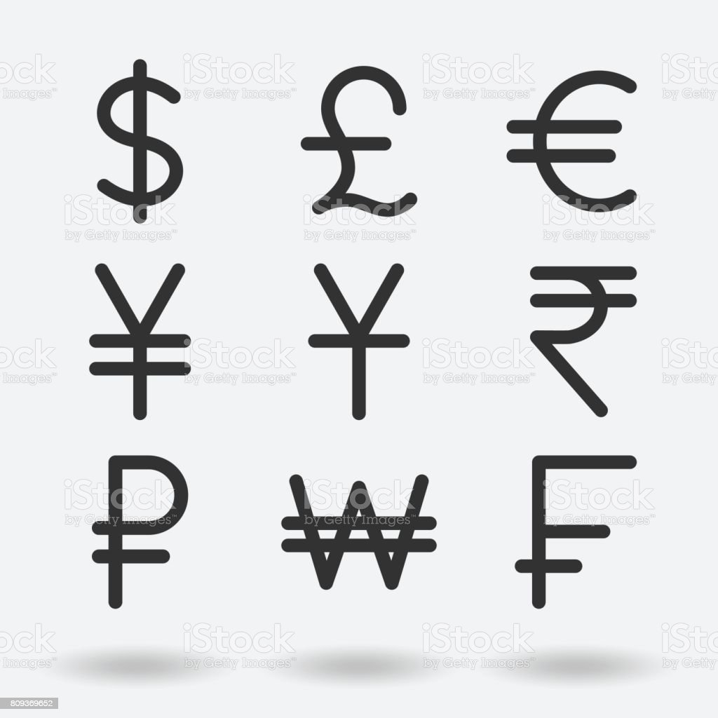 International Currency Symbols Stock Vector Art More Images Of