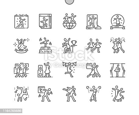 istock International Dance Day Well-crafted Pixel Perfect Vector Thin Line Icons 30 2x Grid for Web Graphics and Apps. Simple Minimal Pictogram 1164265686