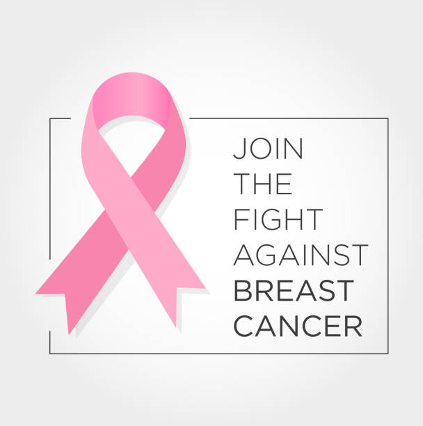 international day against breast cancer banner. join the fight. - breast cancer awareness stock illustrations