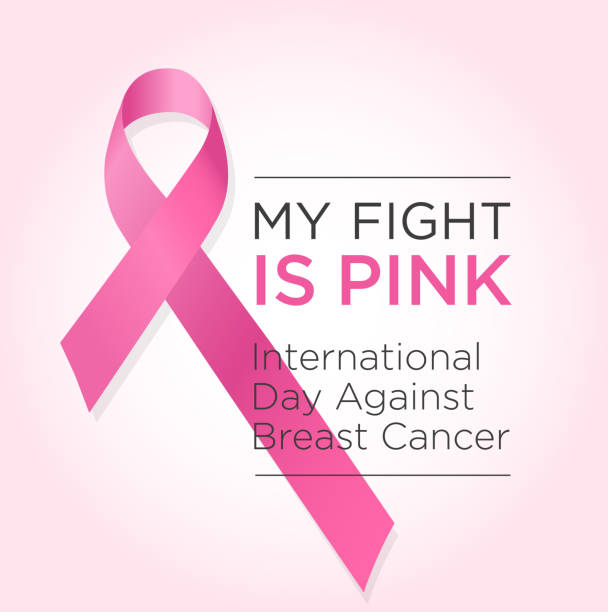 international day against breast cancer banner. my fight is pink. - breast cancer awareness stock illustrations