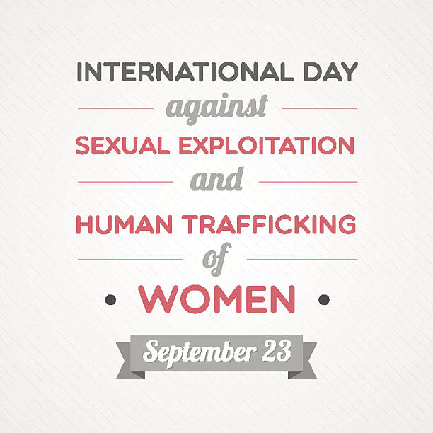 International Day Against Sexual Exploitation And Human Trafficking Of Women International Day Against Sexual Exploitation And Human Trafficking Of Women human trafficking stock illustrations