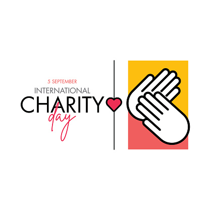 International Day of Charity Vector Design Template stock illustration