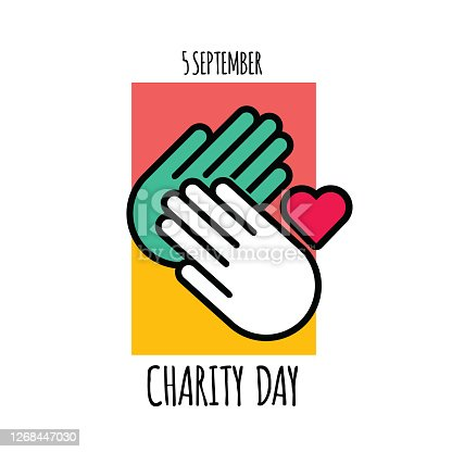 istock International Day of Charity Vector Design Template stock illustration 1268447030