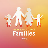 Celebrating the International Day of Families on 15 May annually with paper cutting of a family holding hands together reflecting the importance of family