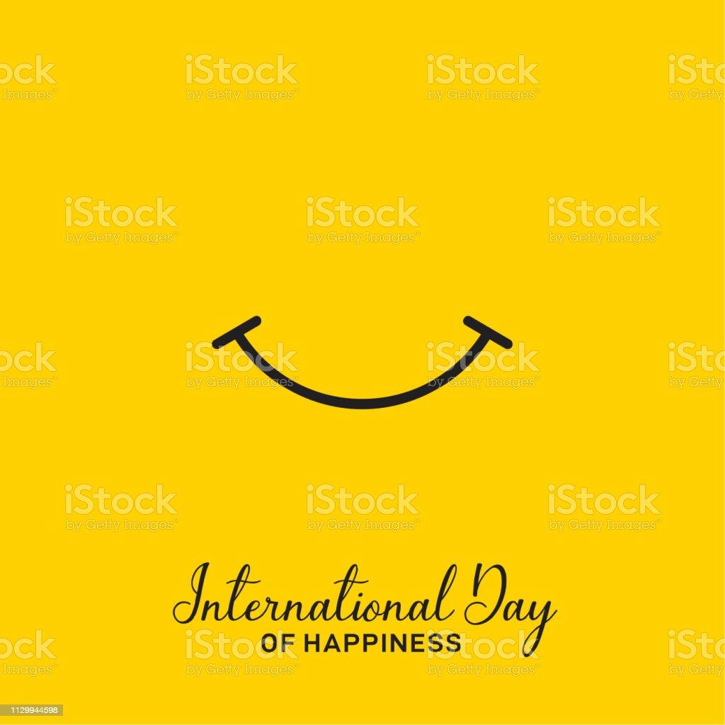 Internationaler Tag des Glücks-Vektor-Design - Lizenzfrei Abstrakt Vektorgrafik