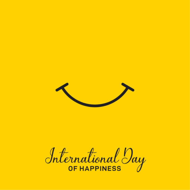 International Day Of Happiness Vector Design International Day Of Happiness Vector Design happiness stock illustrations