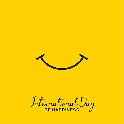 Internationaler Tag Des Glücksvektordesign Stock Vektor Art und mehr Bilder von Abstrakt