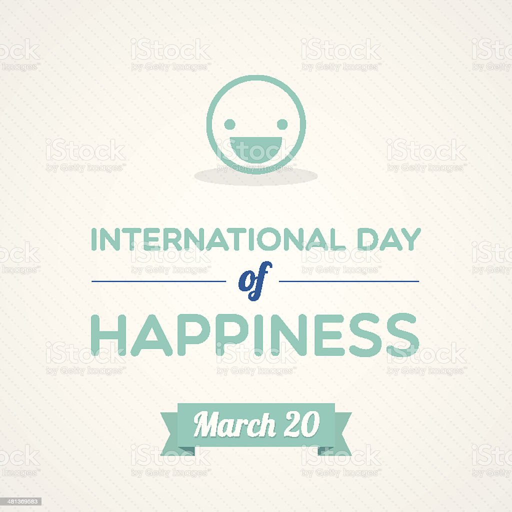 International Day of Happiness vector art illustration