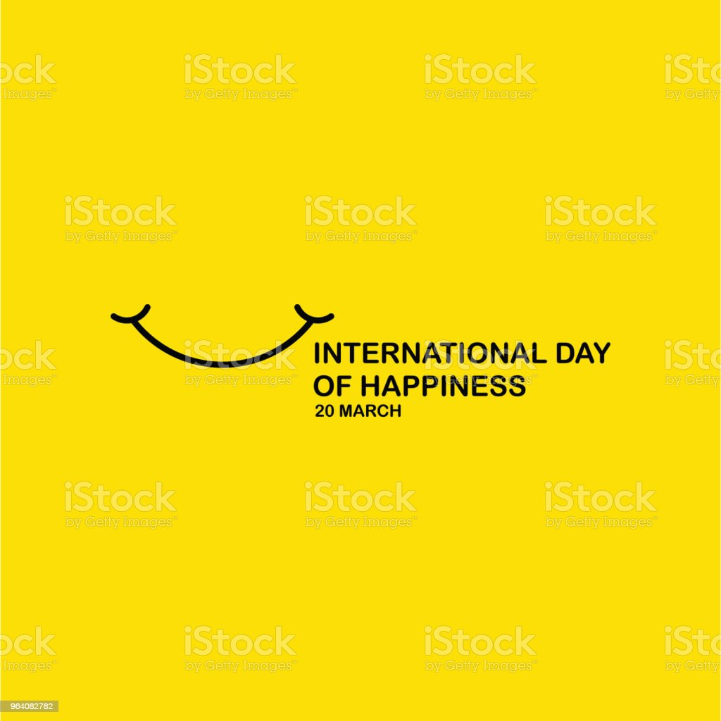 International Day of Happiness Vector Template Design - Royalty-free Abstract stock vector