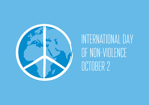 International Day of Non-Violence vector