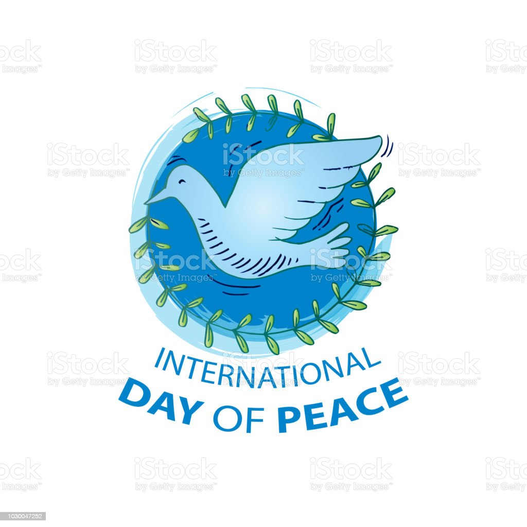 国際平和デーのコンセプトです -...