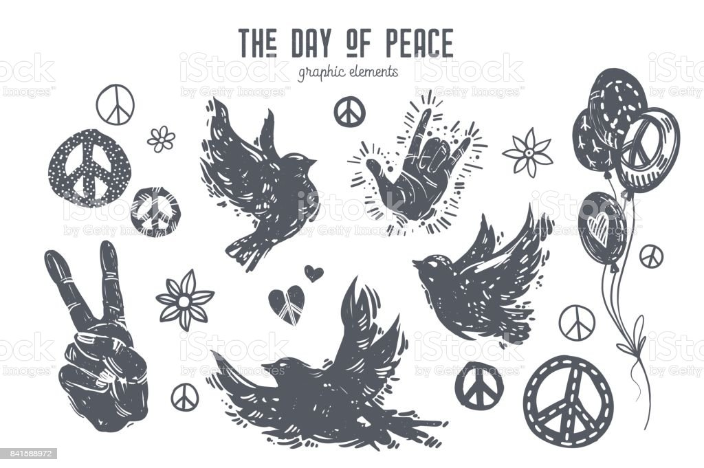 International day of peace graphic set