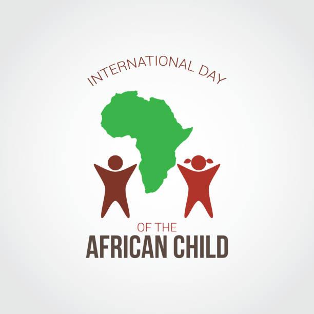 illustrazioni stock, clip art, cartoni animati e icone di tendenza di international day of the african child vector illustration - bambine africa