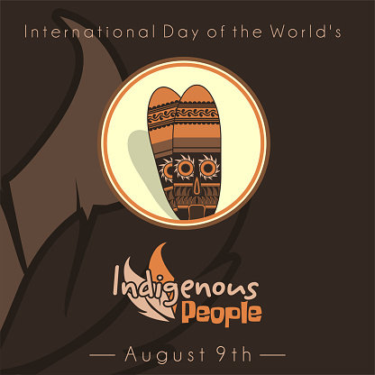 International Day of the world Indigenous People vector design