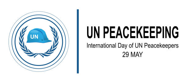 international day of un peacekeepers - united nations stock illustrations
