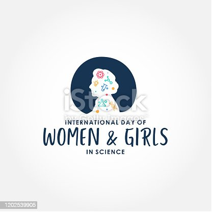 istock International Day Of Women And Girls In Science Design Vector For Banner or Background 1202539905