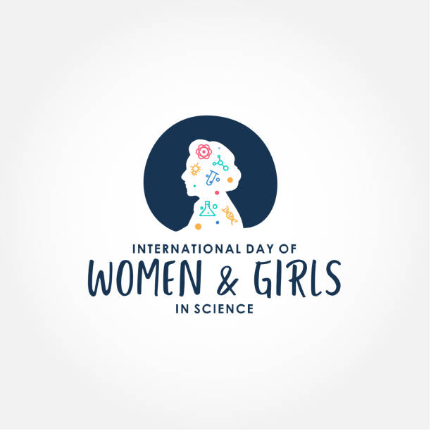 International Day Of Women And Girls In Science Design Vector For Banner or Background vector art illustration