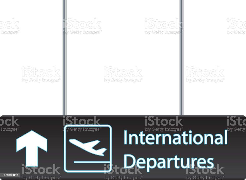 International departures board vector art illustration