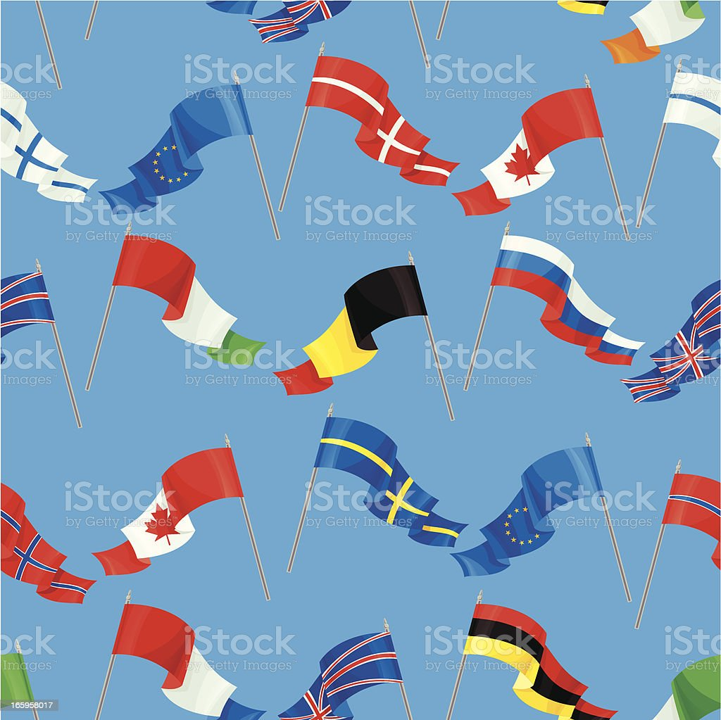International Flag Pattern vector art illustration
