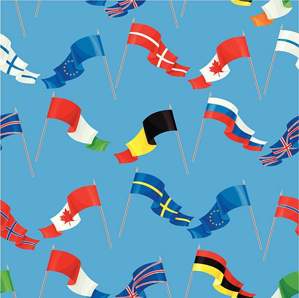 世界の国旗模様 - スウェーデンの国旗点のイラスト素材/クリップアート素材/マンガ素材/アイコン素材