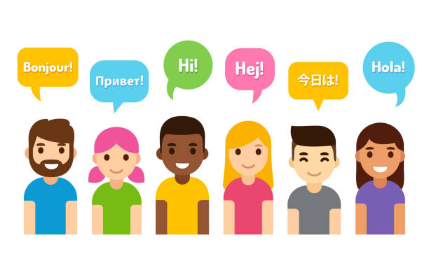international group of people - language class stock illustrations